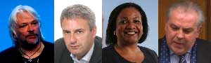 Tosh McDonald, Kevin Maguire, Diane Abbot MP, Jim Dowd MP